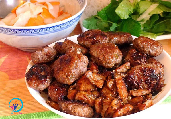 cach uop thit nuong bun cha